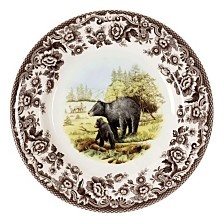 Spode Woodland Black Bear Salad Plate