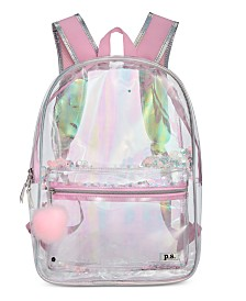 FAB Little & Big Girls Clear Backpack