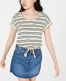 Juniors' Tie-Front T-Shirt
