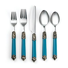 Neapolitan Island Blue 20-Piece Flatware Set, Service for 4