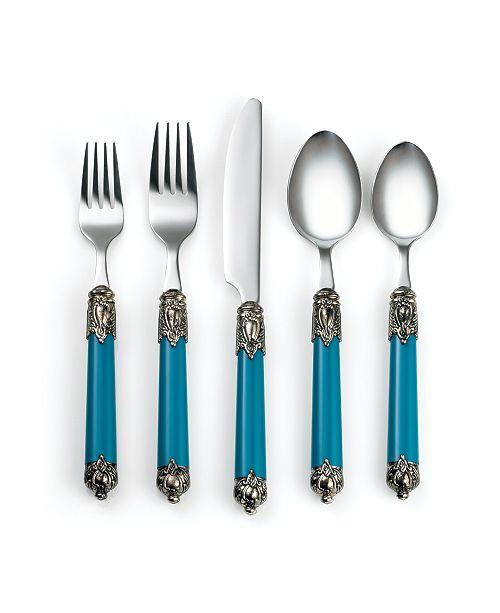 Cambridge Neapolitan Island Blue 20-Piece Flatware Set, Service for 4