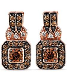Le Vian® Diamond Halo Drop Earrings (3/4 ct. t.w.) in 14k Rose Gold