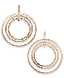 I.N.C. Gold-Tone Triple Orbital Hoop Earrings, Created for Macy's