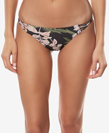 O'Neill Juniors' Jada Printed Strappy Bikini Bottoms