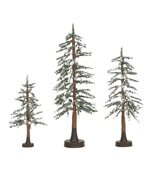 Department 56 Villages Snowy Lodge Pines