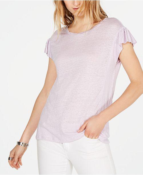 Michael Kors Linen T-Shirt, Regular & Petite