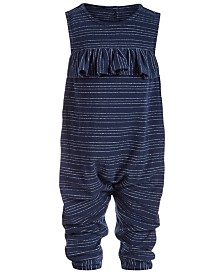 First Impression's Baby Girl's Metallic Striped Jumpsuit Created for Macy's
