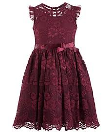 Little Girls Floral Lace Dress