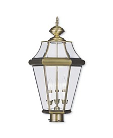 CLOSEOUT!   Georgetown 3-Light Outdoor Post Lantern