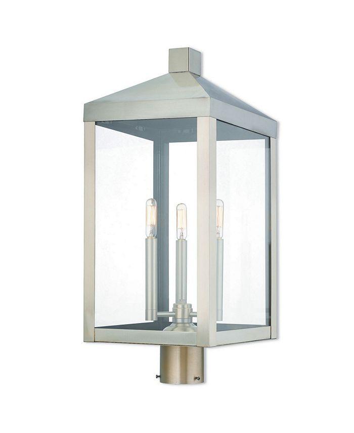 Livex - Nyack 3-Light Outdoor Post Top Lantern