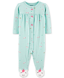 Carter's Baby Girls Unicorn-Print Footed Cotton Coverall