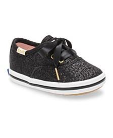 Baby Girl's Keds x Kate Spade Champion Glitter Crib Sneaker