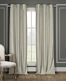 "Daenerys 38"" x 84"" Faux Silk Blackout Curtain Set"