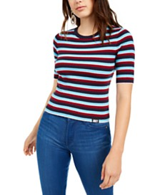 Juicy Couture Short-Sleeve Striped Sweater