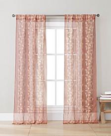 """Sarabi 38"""" x 84"""" Vine Print Curtain Set"""