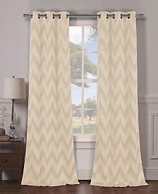 "Lysanna 38"" x 84"" Chevron Print Blackout Curtain Set"