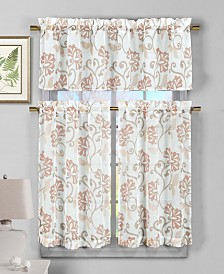 Rivietta Floral Kitchen Curtain Set