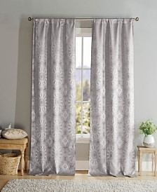 "Elsa 38"" x 96"" Lace Print Curtain Set"