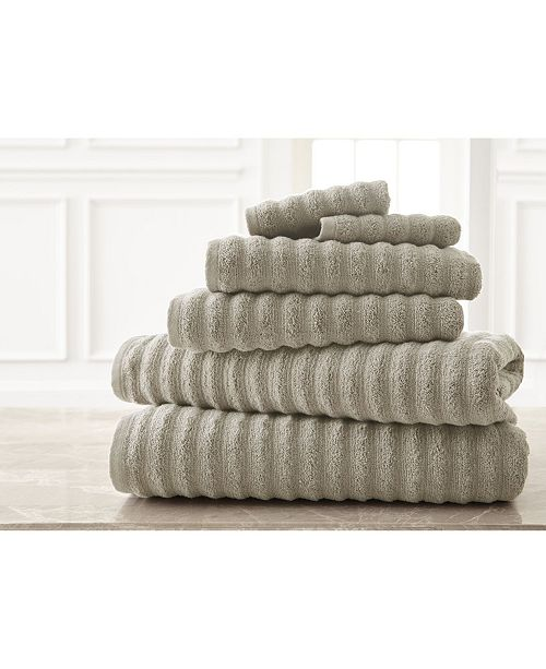 Modern Threads Wavy Luxury Spa Collection 6-Pc. Quick Dry Towel Set