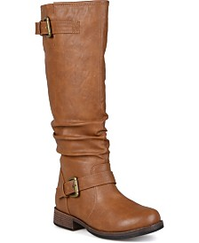 Journee Collection Women's Stormy Regular and Wide Calf Boot