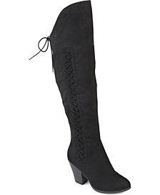 Journee Collection Women's Wide Calf Spritz-P Boot