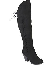 Journee Collection Women's Spritz-S Regular and Wide Calf Boot