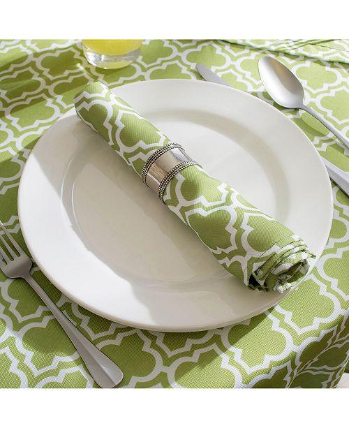 Design Import Lattice Outdoor Tablecloth 60 Quot Round