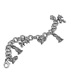 Pewter 6 Cat Charm Bracelet