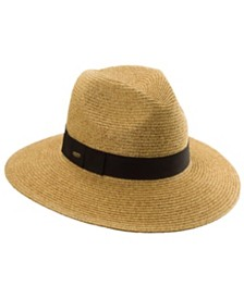 Scala Paper Braid Fedora with Ribbon