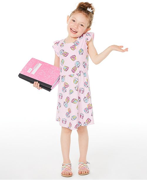 Epic Threads Toddler Girls Cupcake-Print Dress, Created for Macy's
