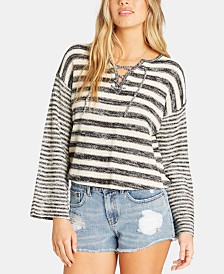 Billabong Juniors' Striped Lace-Up Sweater