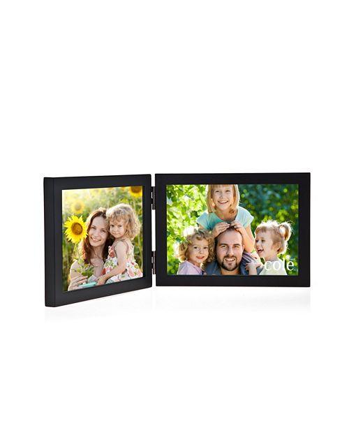 Philip Whitney Black Wood Double Frame - 6 x 4