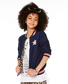 Big Girls Reversible Bomber Jacket, Created for Macy's