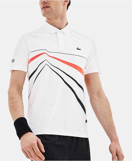 Lacoste Men's Novak Djokovic Ultra Dry Geo Graphic Print Polo