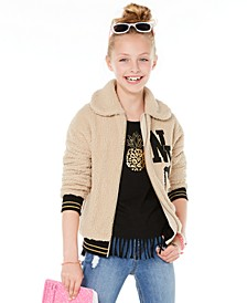 Big Girls NYC Teddy Jacket, Created for Macy's
