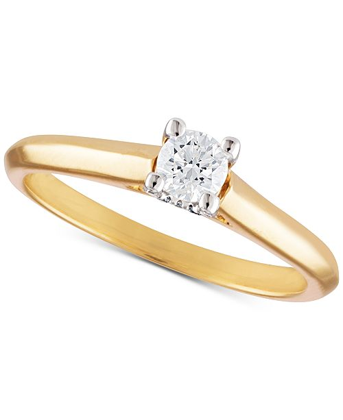 X3 Certfied Diamond Solitaire Engagement Ring in Titanium (1/3 ct. t.w.)