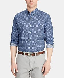 Polo Ralph Lauren Men's Classic Fit Stretch Micro Print Shirt