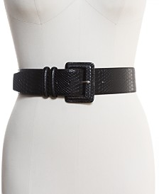I.N.C. Stretch Snake-Embossed Belt, Created for Macy's