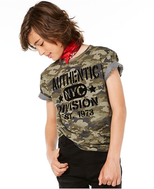 Epic Threads Big Boys Authentic-Print T-Shirt, Created for Macy's