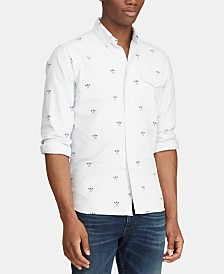 Polo Ralph Lauren Men's Big & Tall Classic Fit Skull Shirt