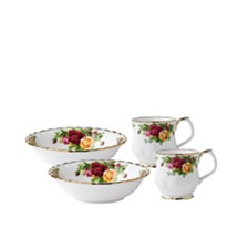 Royal Albert Old Country Roses 4-Piece Breakfast Set