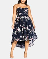 e5a1408b2c214 City Chic Trendy Plus Size Aphrodite Floral-Embroidered High-Low Dress