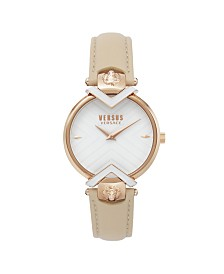 Versus Women's Beige Strap Watch 16mm