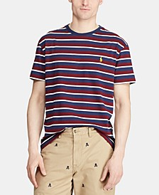 Men's Big & Tall Classic Fit Striped Cotton T-Shirt