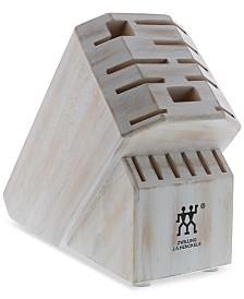 Zwilling J.A. Henckels Pro Rustic White Wood 16-Slot Block