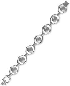 Lucky Brand Silver-Tone Openwork Petal Flex Bracelet