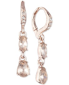 Givenchy Crystal Double Drop Earrings