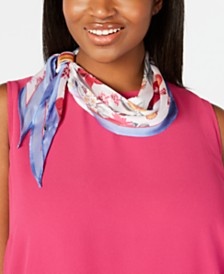 I.N.C. Floral-Print Scarf, Created for Macy's
