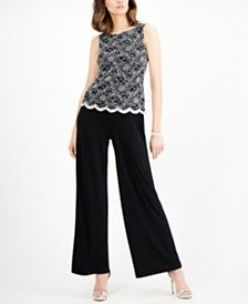 Connected Sequined Lace Popover Jumpsuit
