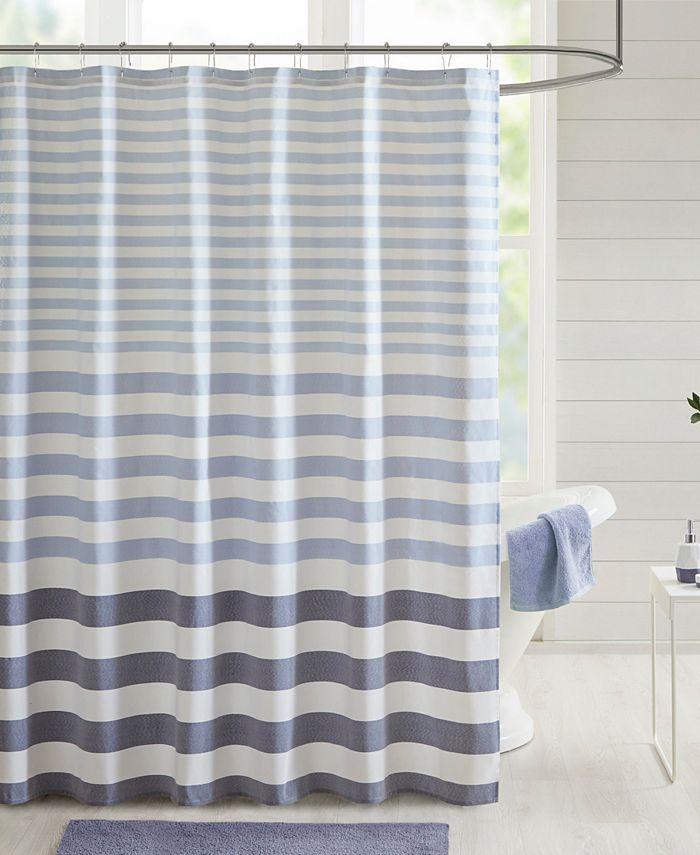 "Madison Park - Aviana Stripe 72"" x 72"" Shower Curtain"